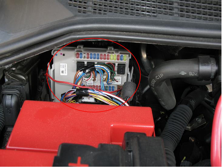 nissan frontier 2006 ecm relay location