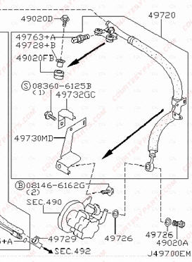2003 Nissan Altima Power Steering Pump Diagram