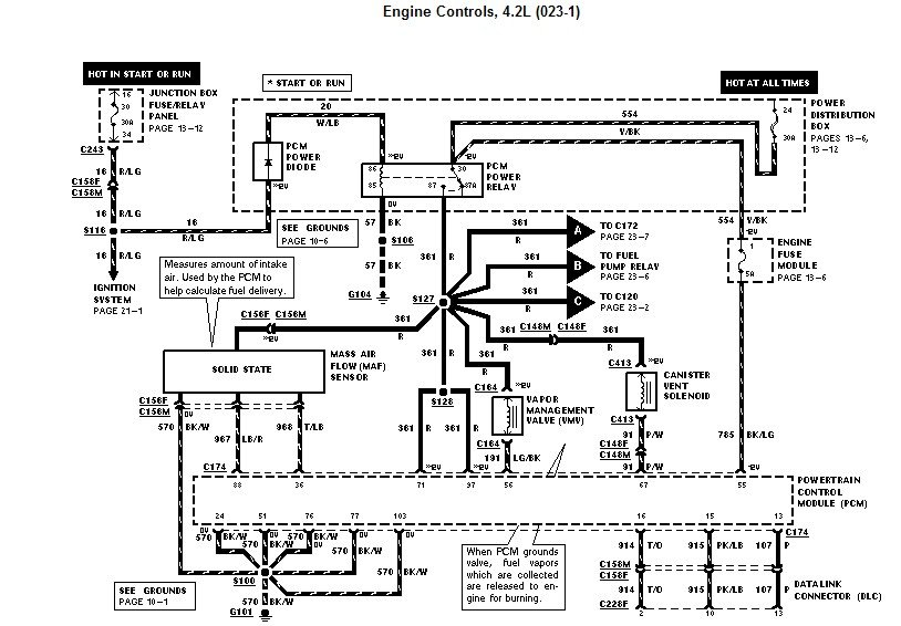 wiring diagram on 1998 f250 4 6 engine