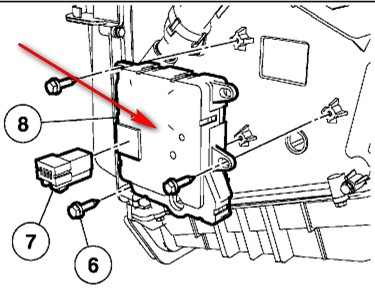 Ford Dual Climate Control Problem Blend Door Actuator