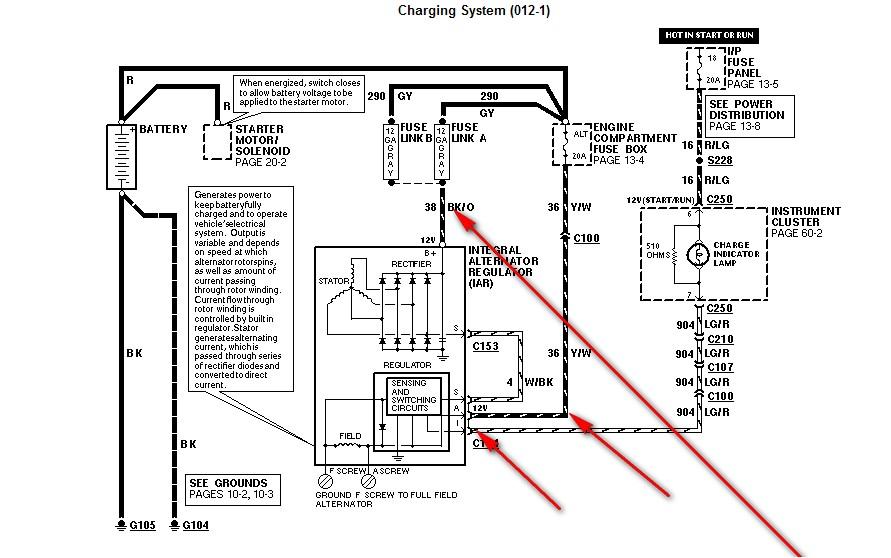 1994 Mustang Gt 5 0 Alternator Voltage Meter Shows Same