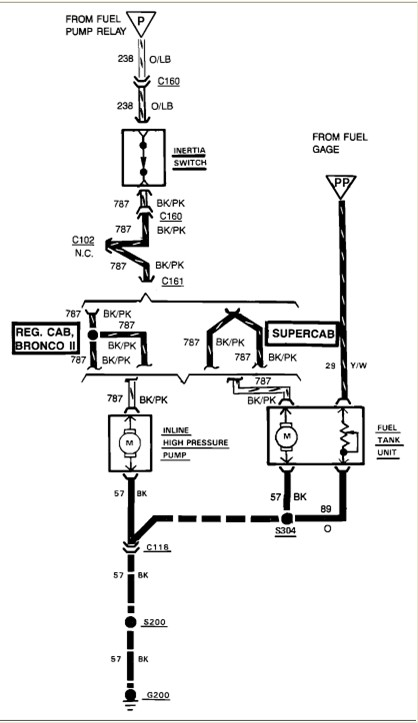 1988 ford ranger fuel pump wiring diagram  1988  free