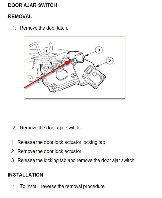 Expedition interior lights dead battery locks any for 03 expedition door ajar sensor