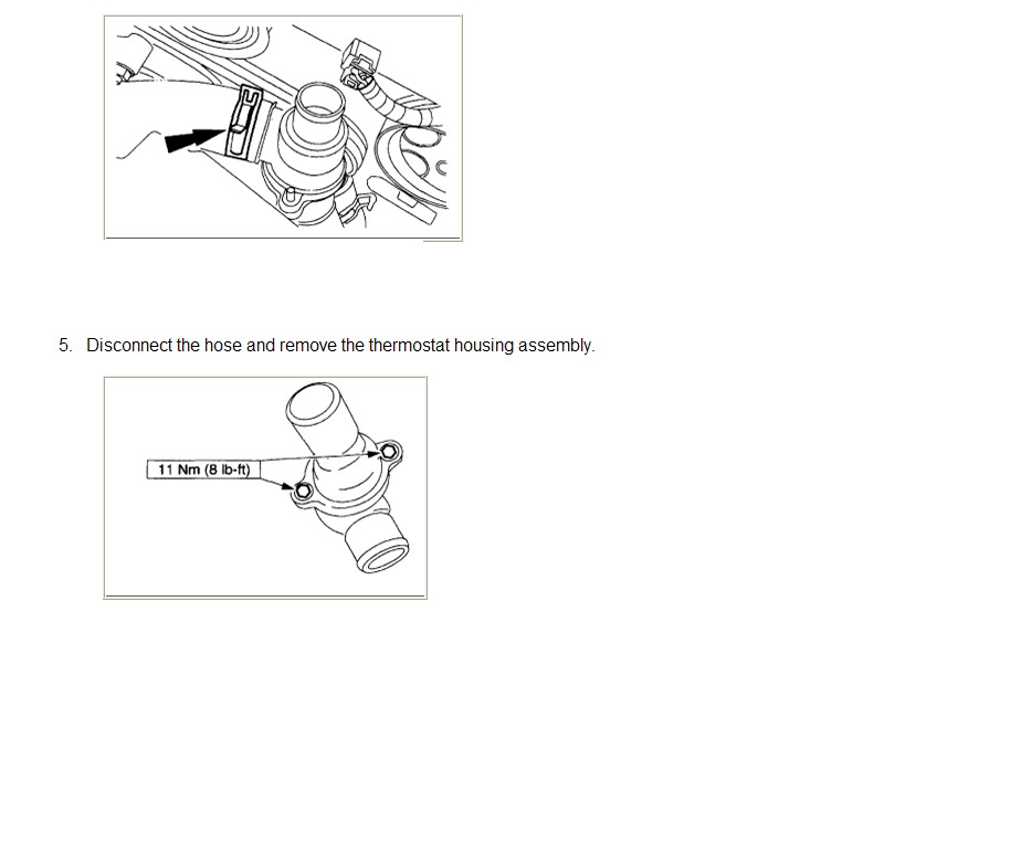 Service Manual  How To Change Thermostat On A 2001 Lincoln