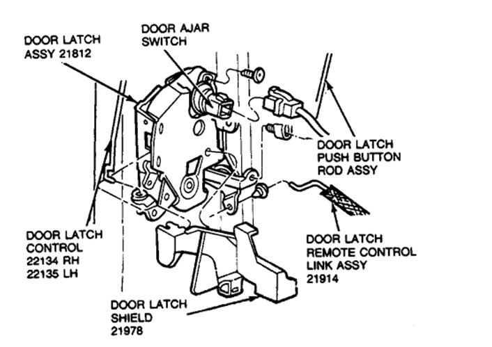 how do i replace the driver side door latch assembly on a 92 ford thunderbird lx  i removed the