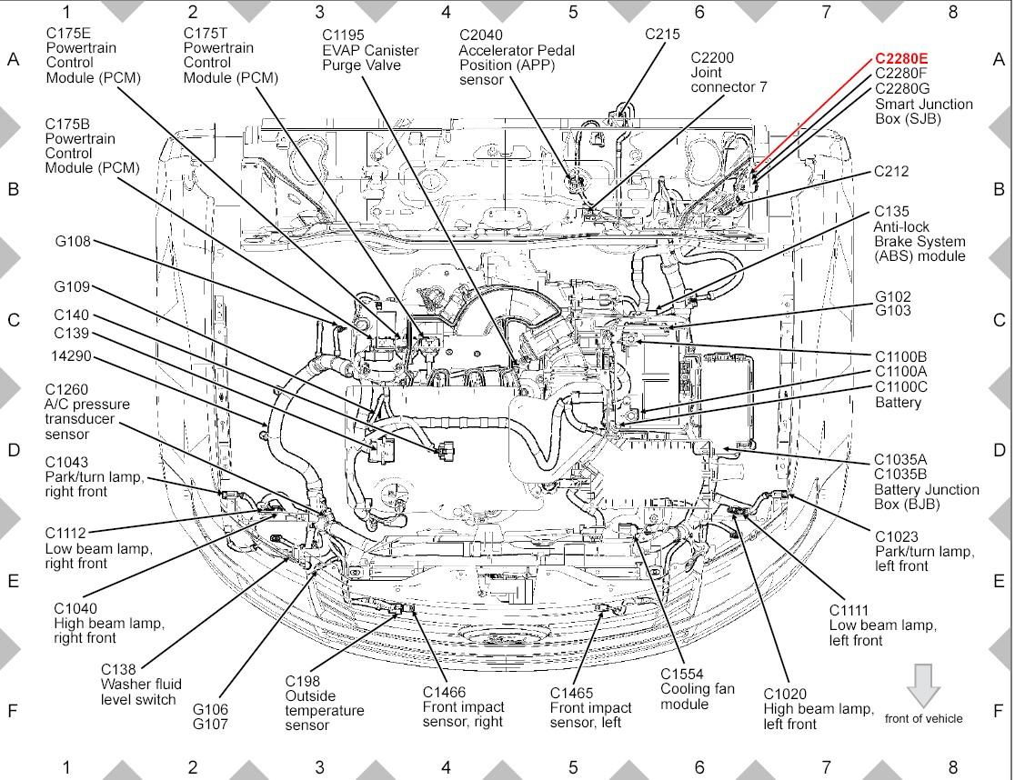 2013 ford edge engine diagram