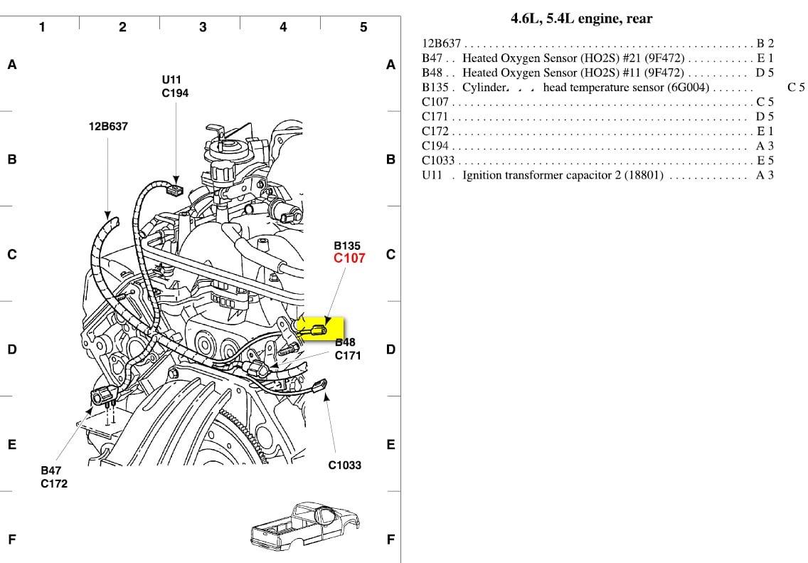 Ford F 150 4 6 Sensor Diagram Ford Free Engine Image For