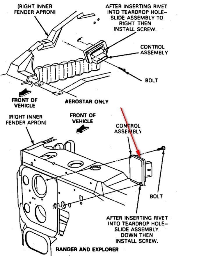 1992 ford explorer  show diagram  removal of harmonic