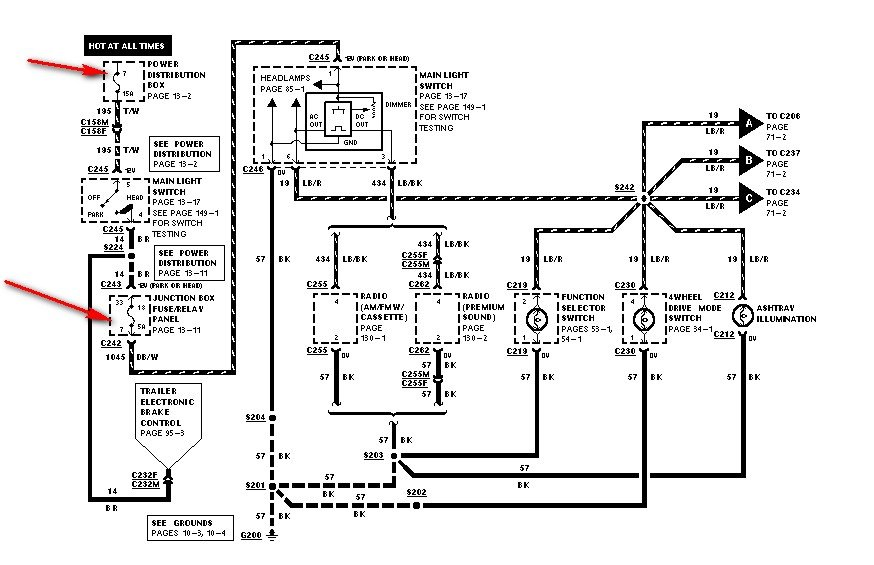 wiring diagram for esof in 99 f250