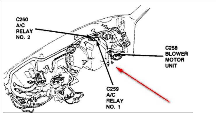 ford probe blower motor wiring