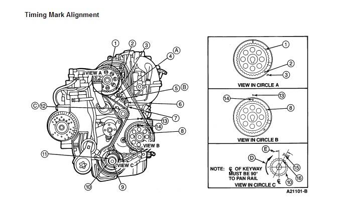 1996 ford ranger  timing belt  liter 4 cyl engine