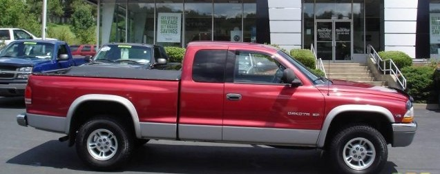 A on Dodge Dakota Two Tone Paint