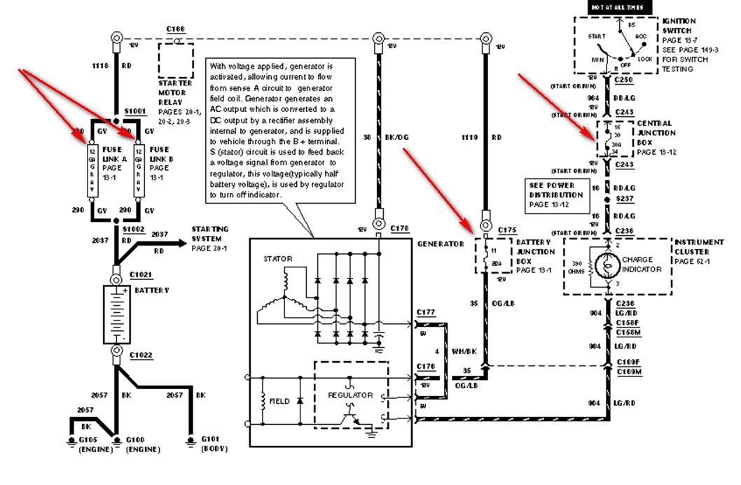 3htda Alternator Fuse 1999 F 150 on 99 explorer fuse box diagram