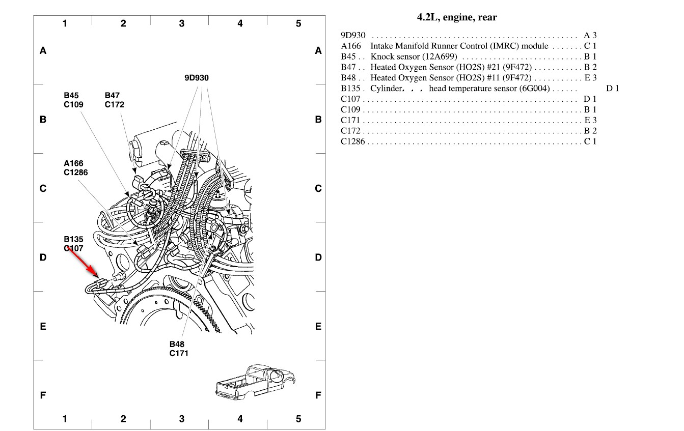 2002 uses a Cylinder head temp sensor instead of a ECT. It located