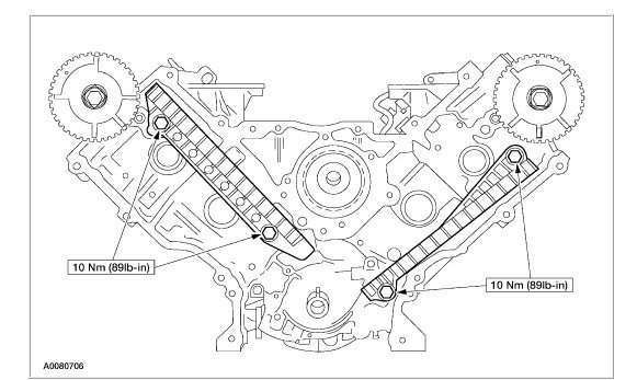 A on 2004 Ford F 150 5 4 Timing Chain Marks