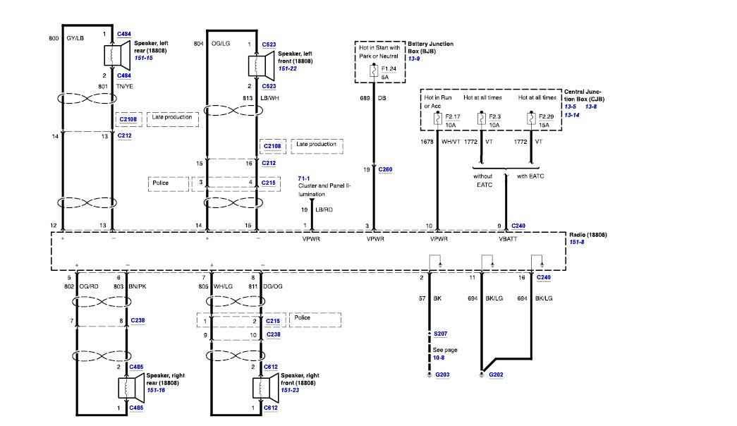 Need wiring diagram for 2006 crown victoria police interceptor radio_JustAnswer