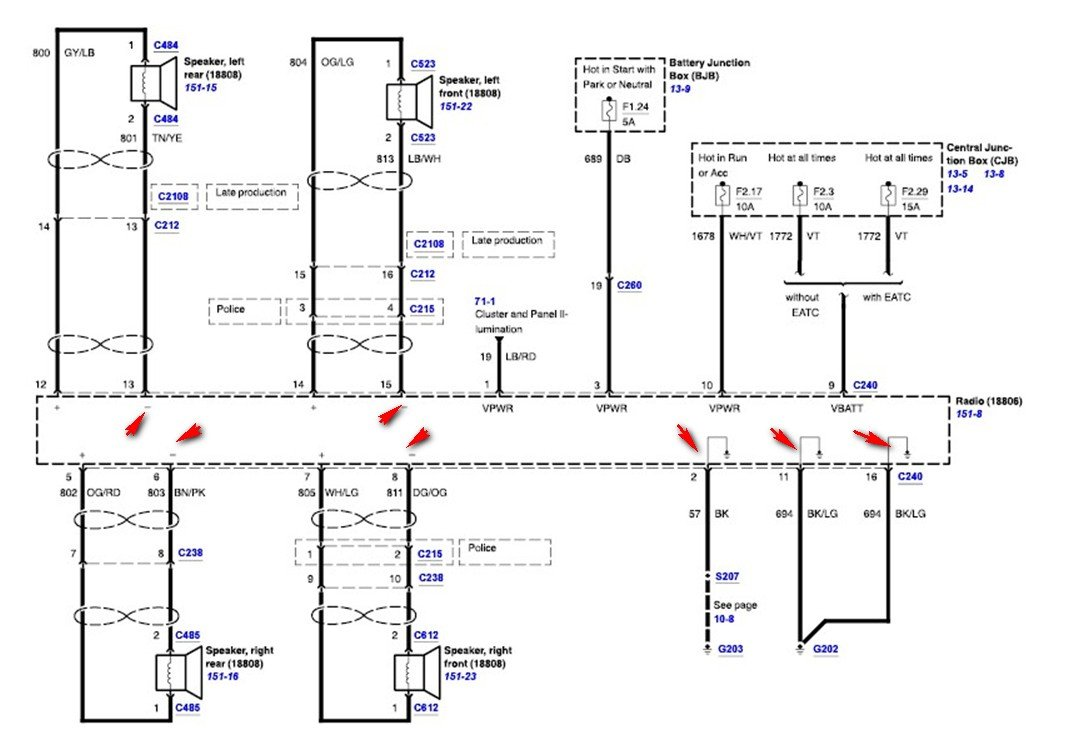 need wiring diagram for 2006 crown victoria police interceptor radio_ 2005 ford crown victoria radio wiring diagram 2009 crown vic radio wiring diagram justanswer