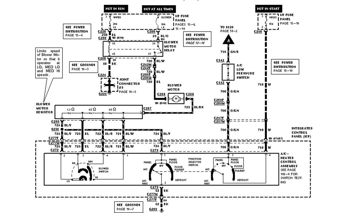 1997 ford escort wiring diagram heater blower fan trouble shoot full size image