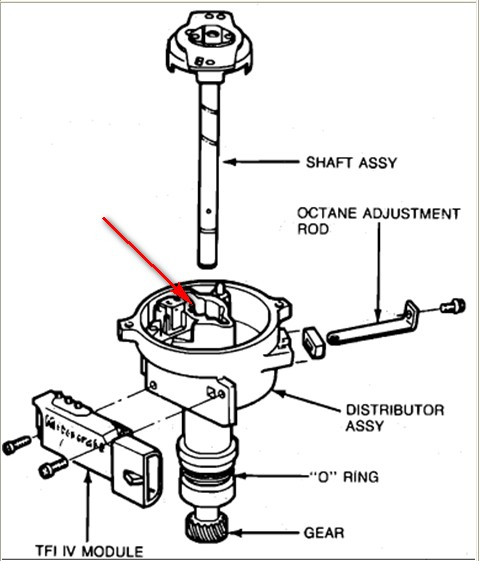 95 ford f150 ignition wiring diagram: distributor removal ford f150