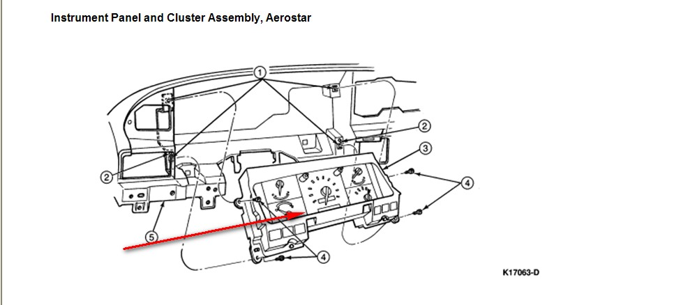 1995 Aerostar Xlt Speedometer  U0026 Odometer Quit Working