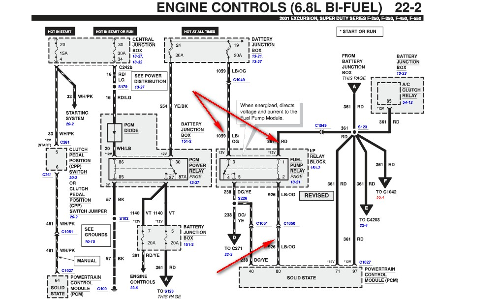 2001 ford f 250 fuel pump relay location justanswer