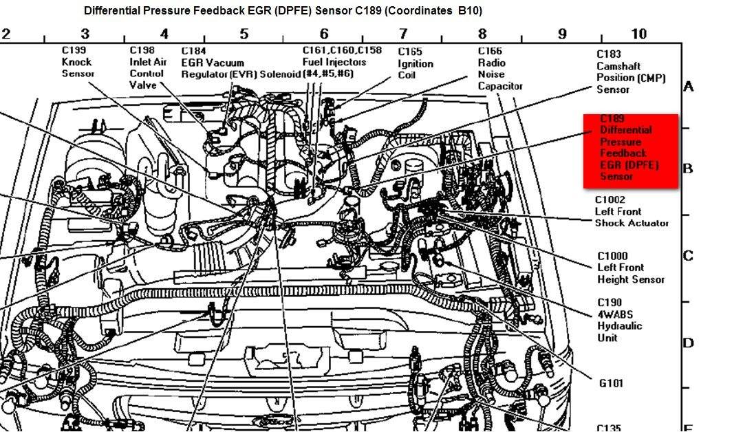 Where Is The Dpfe Sensor On A 1997 Murcury Mountaineer With A 5 0 Liter V8