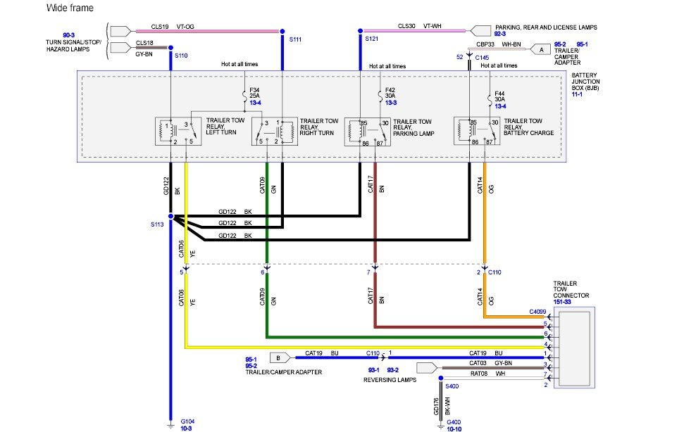 2008 Ford F350 Super Duty Diesel Is There A Wiring Diagram For The Rear Trailer Plug Showing The