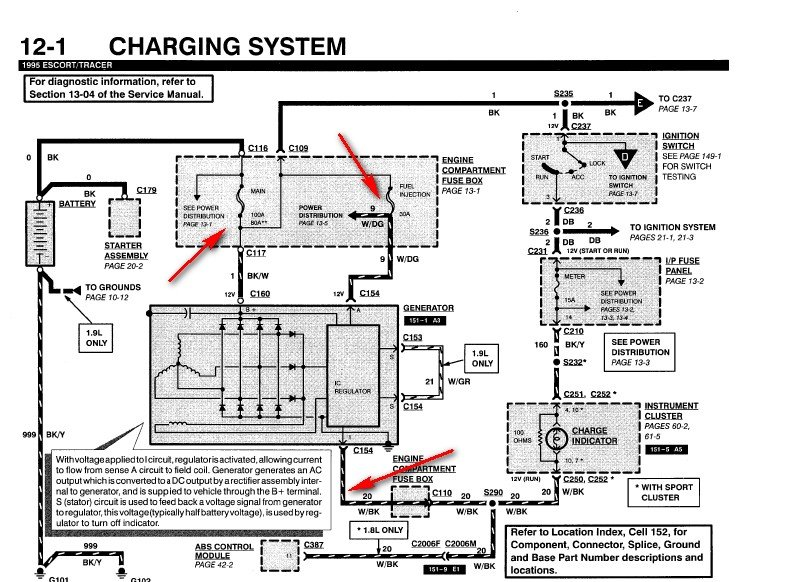 1997 Ford Escort Alternator Wiring Diagram : Need information on ford escort gt charging system