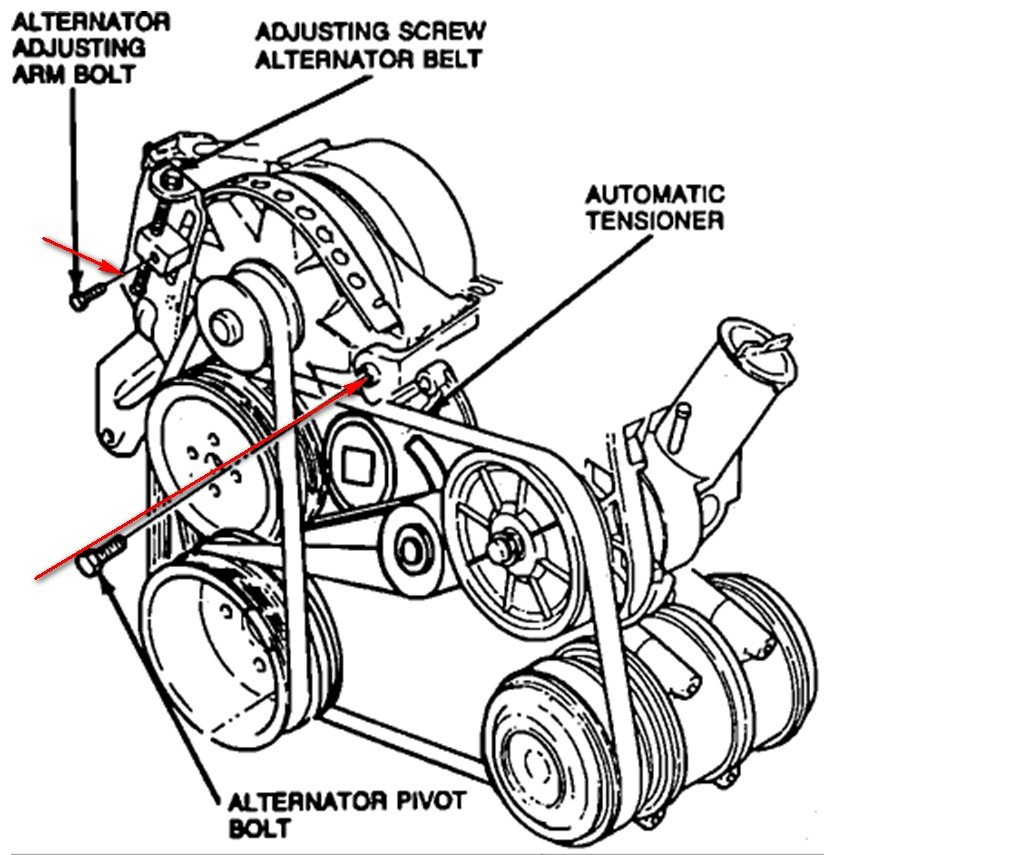 How Do I Put An Alternator Belt On A 1992 Ford Tempo 6 Cyl
