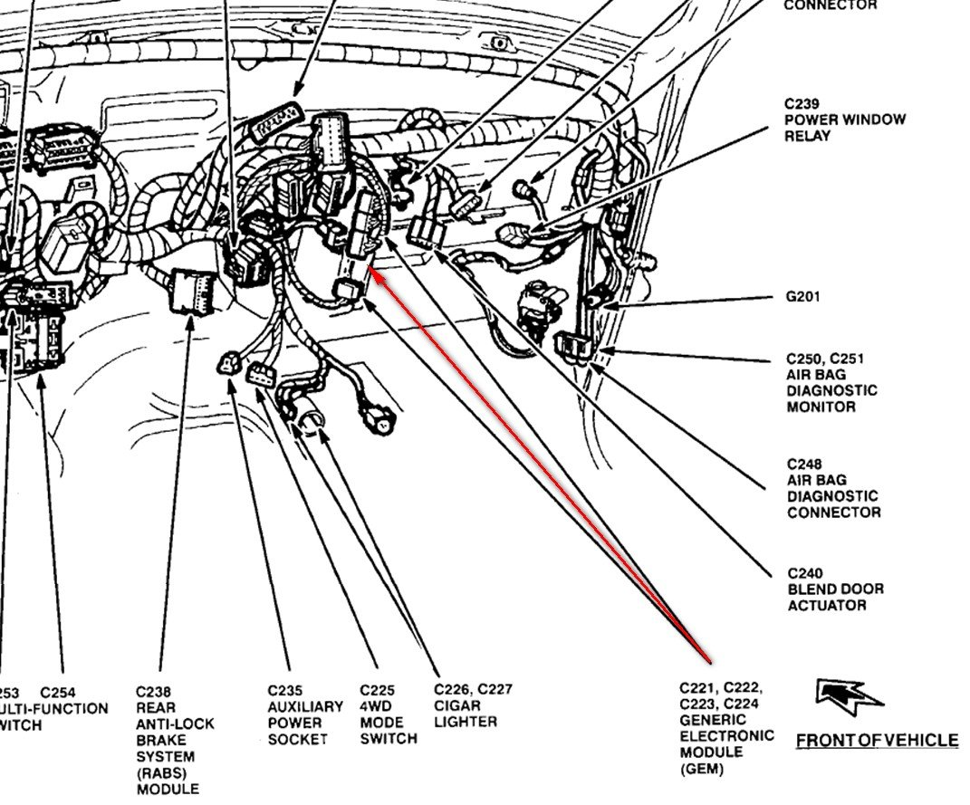 95 ford ranger wiper motor wiring diagram