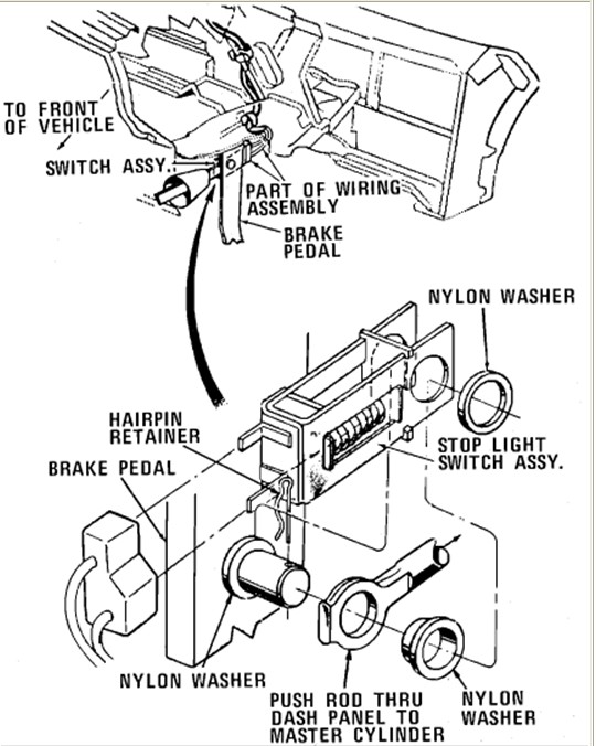 ford brake light switch problem