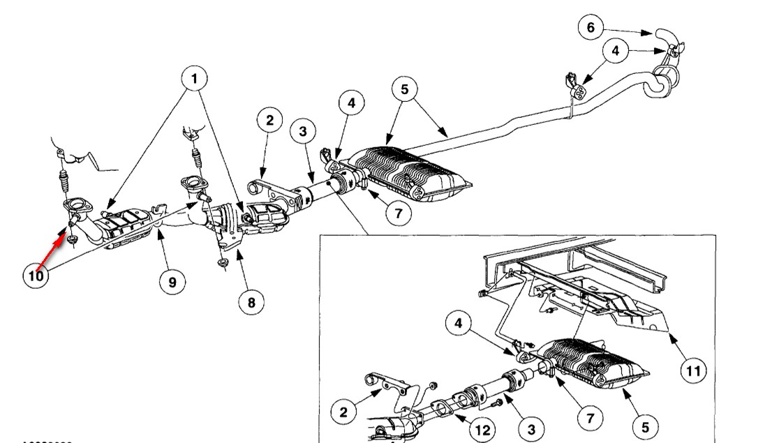 2001 Ford Windstar Exhaust System Diagram