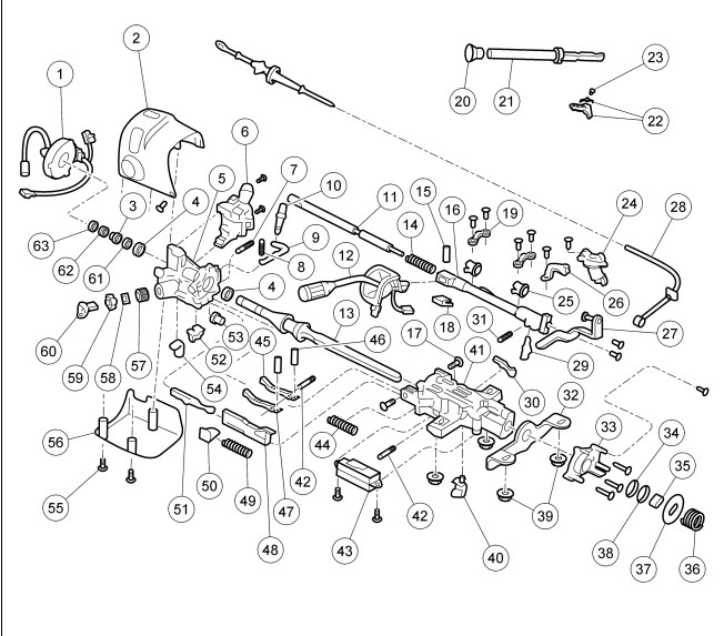 steering column wiring diagram for for 94 ford e350