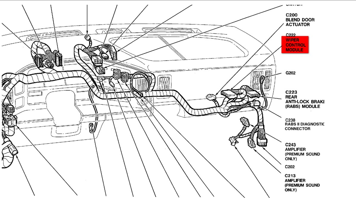 ford e 150 wiper motor diagram