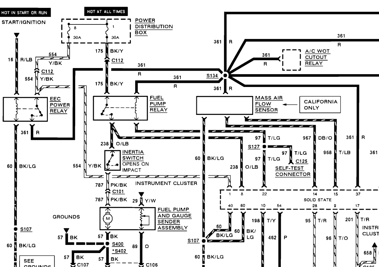 98 f150 fuel pump wiring diagram get free image about 1992 F150 Fuel Pump Wiring Diagram Ford Fuel System Diagrams