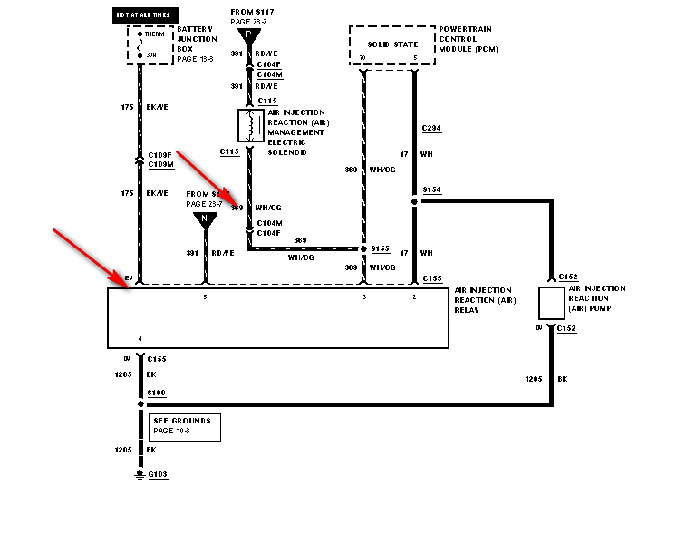 I Need Secondary Air Injector Pump Relay Wiring Diagram