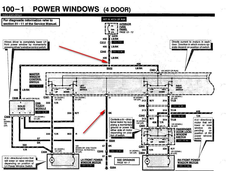 2004 Ford Explorer Power Window Wiring Diagram Collection