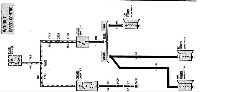1986 ford laser horn fuse repair