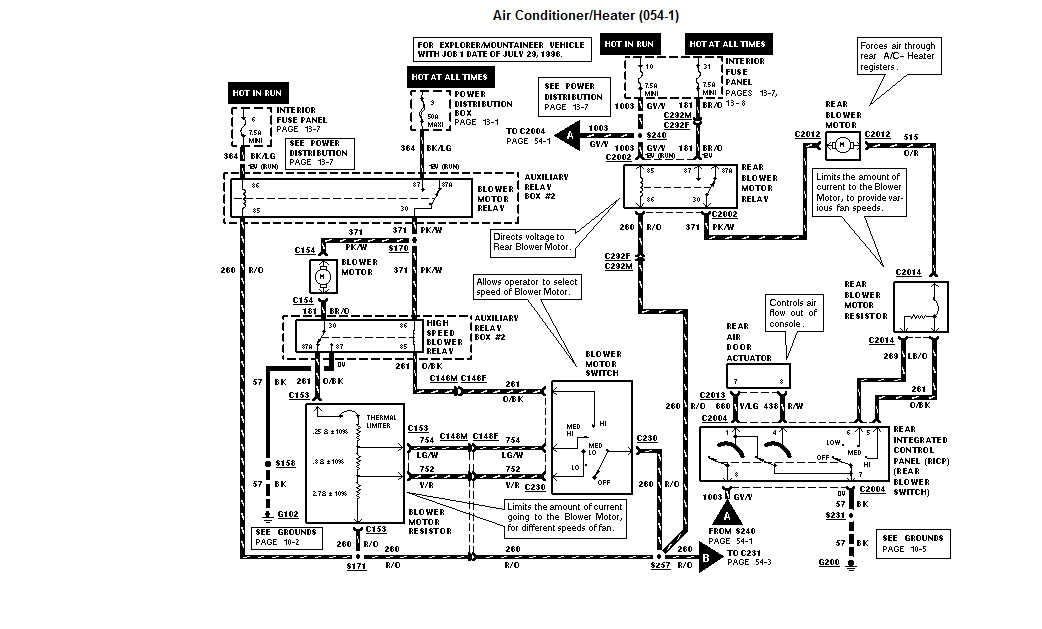 34 1996 Ford Explorer Radio Wiring Diagram