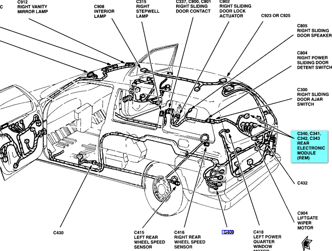 where is module on 2001 ford windstar