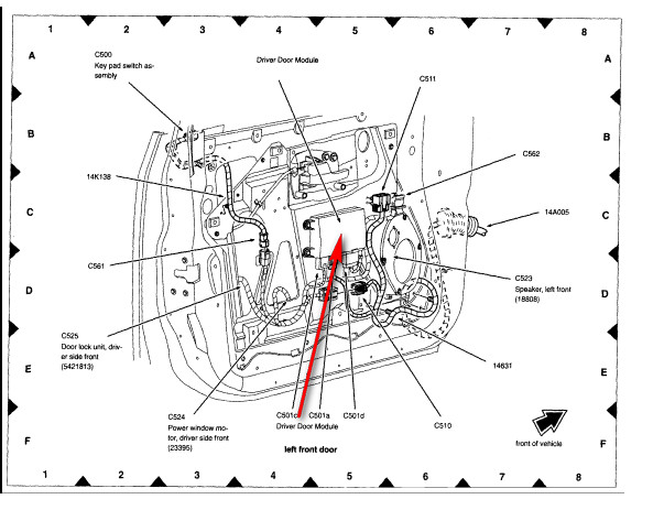 ford keyless entry diagram