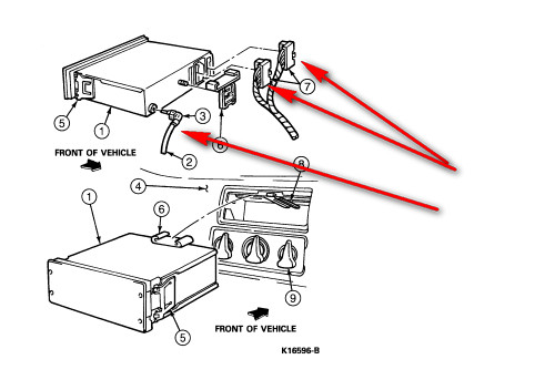 service manual  how to remove antena on a 1994 plymouth