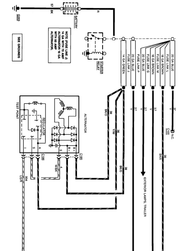 1989 6 5 amp ford alternator wiring diagram using a 1989 ford f-250 4d 4 x 4...460 engine with it's ... 1989 ford alternator wiring #2