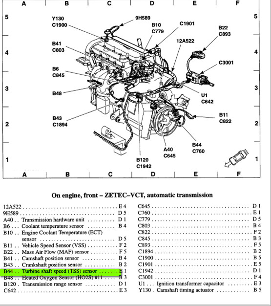 ford windstar transmission diagram