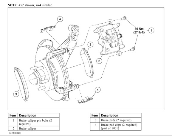 ford front ke caliper diagram  ford  free engine image for