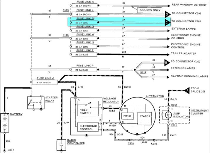 1990 ford f150 ignition wiring diagram