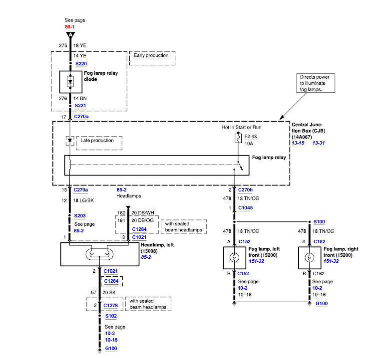 I Need A 2003 F350 Super Duty Fog Log Lamp Wiring Schematic