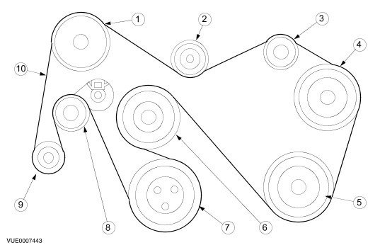 Diagram Fan Belt Ford Transit