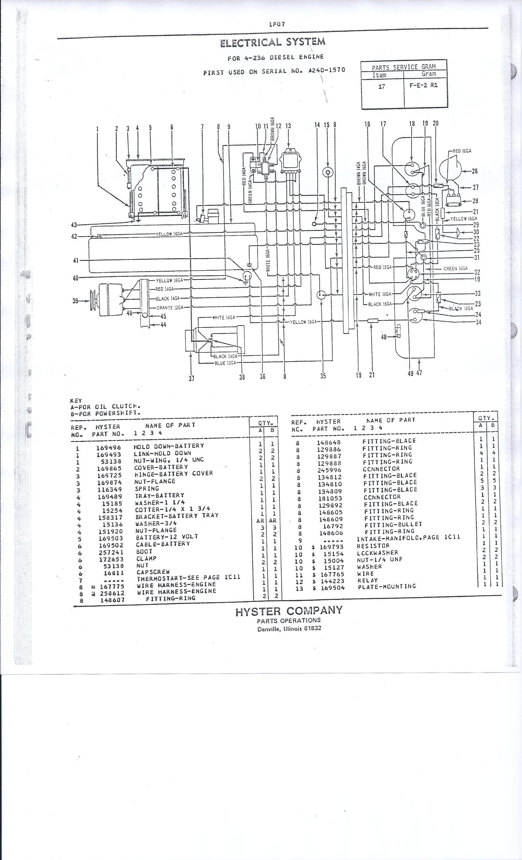 hyster wiring diagram