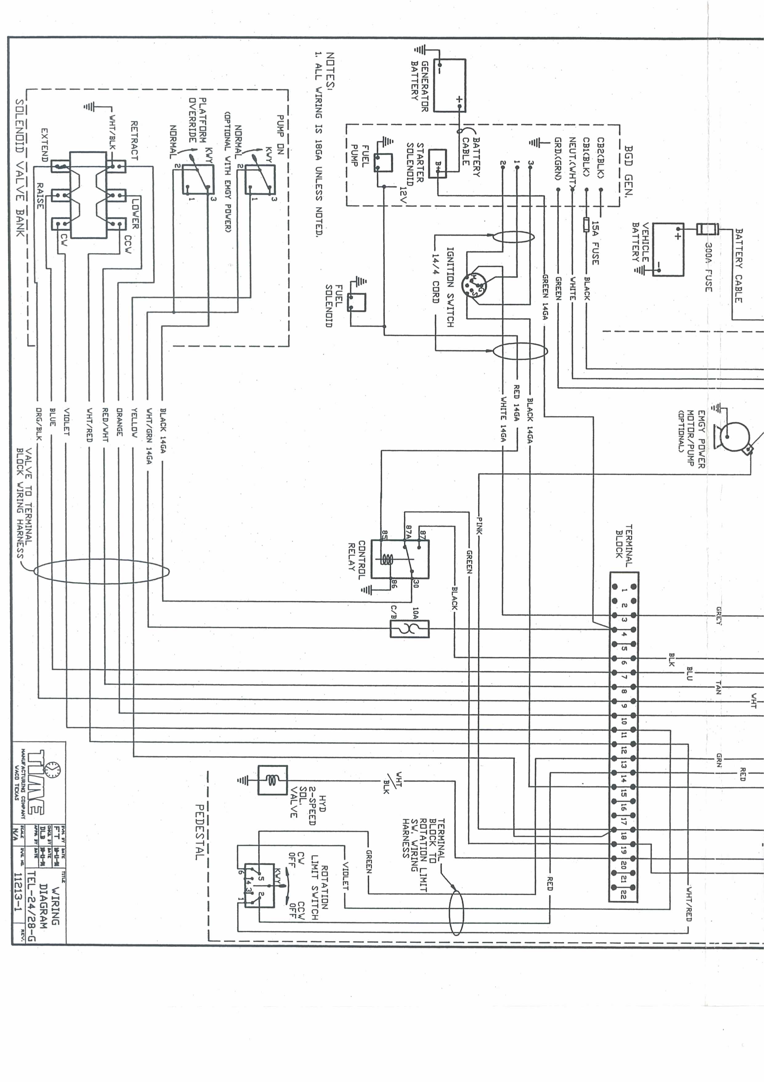i obtain a wiring digram for a 1982 versa lift tel28g bucket unit here you go let me know if you need more help graphic graphic